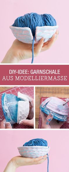 DIY-Anleitung Garnschälchen aus Modelliermasse selber machen via - rückwand küche selber machen