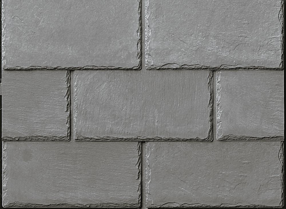 Best Inspire Synthetic Slate Shingles Cool Roofing Ash Grey 400 x 300