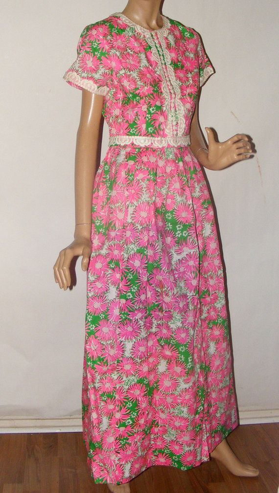 5495e23ed3 Vintage 1960s The Lilly Pulitzer Maxi Dress by RecyclingTheBlues, $125.00