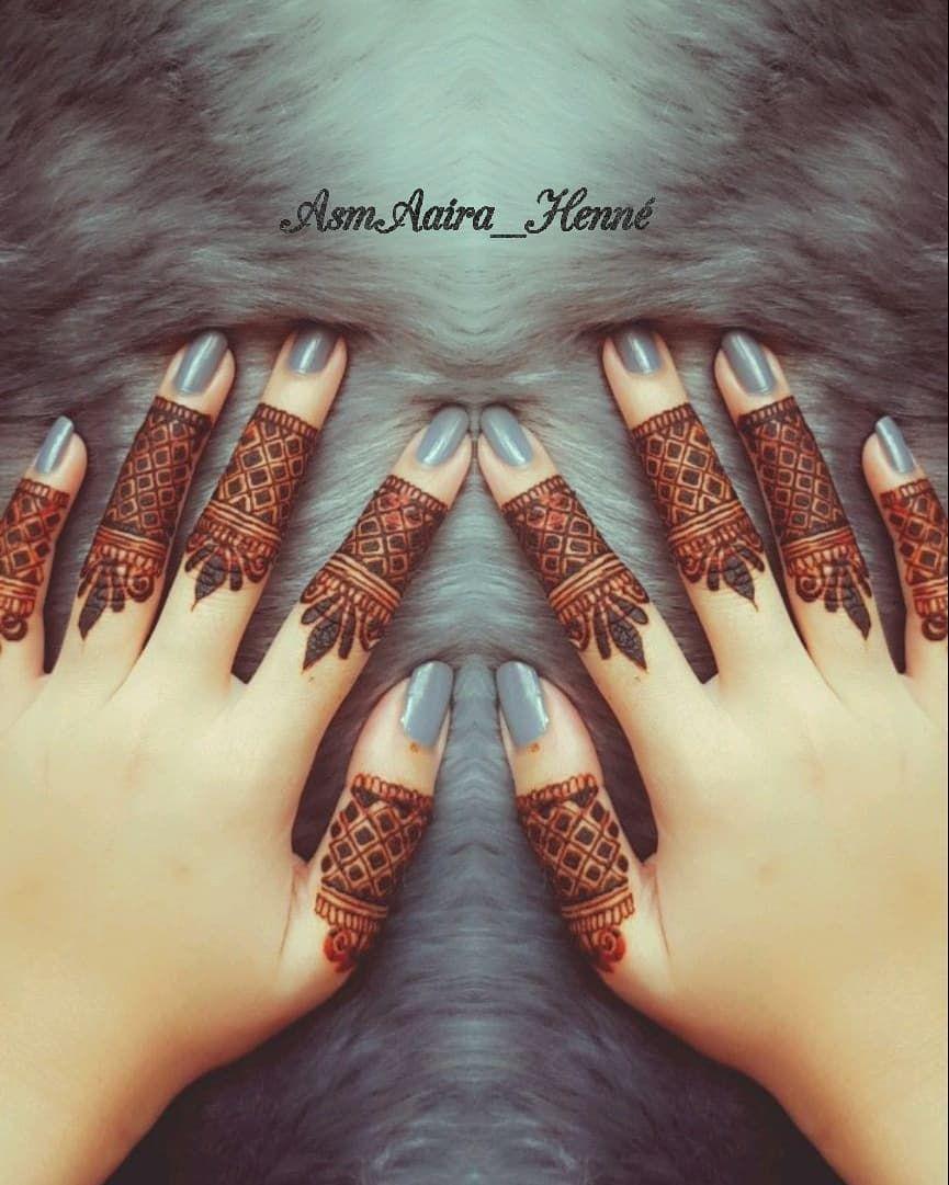 simple finger mehandi design