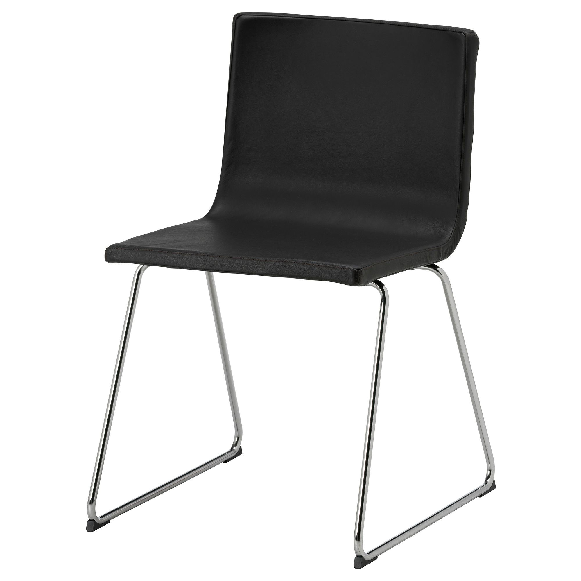 BERNHARD Chair chrome plated Kavat Mjuk dark brown