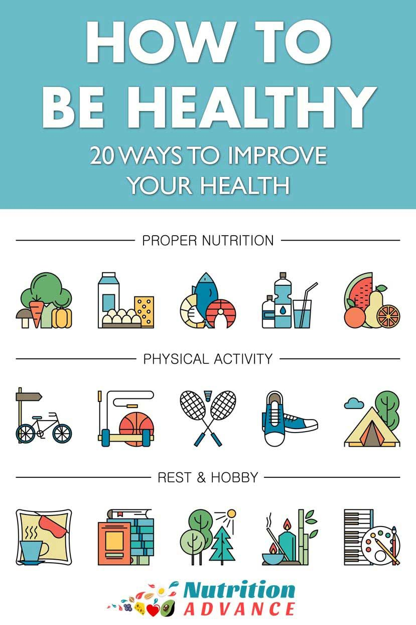 How To Be Healthy in 20 Simple Ways | Optimal health isn't just about the  food we eat, but it also concerns our whole lifestyle. T… | Health, Healthy,  Special diets