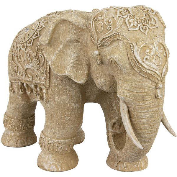 20 Rustic Jeweled Elephant Statue 149 Liked On Polyvore Featuring Home Decoranimal