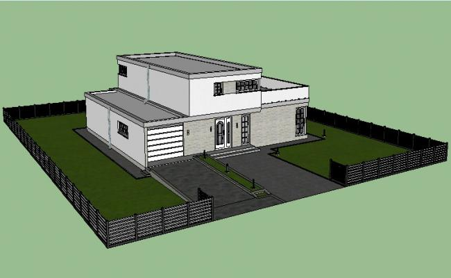 Sketchup File Of The Bungalow In 3d Bungalow Design Bungalow