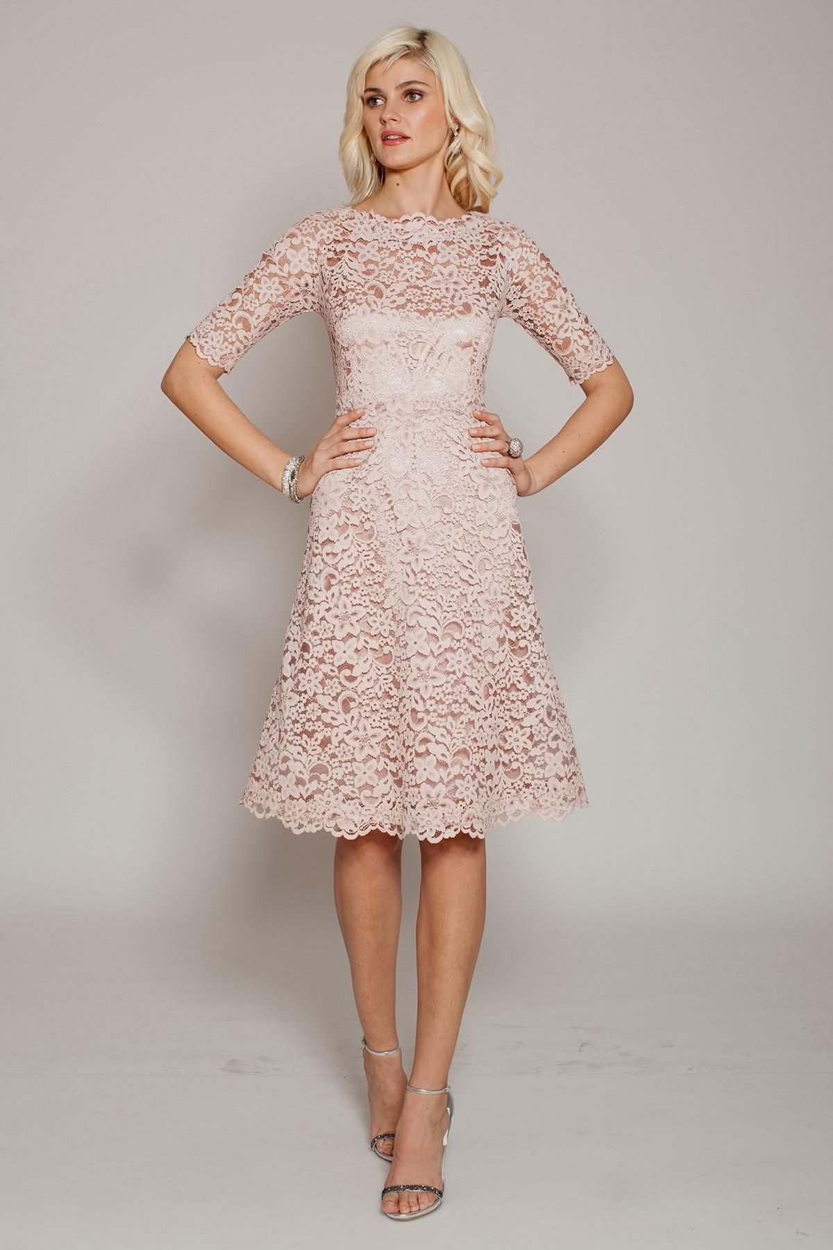 Image result for blush lace dress with sleeves | blush lace dresses ...