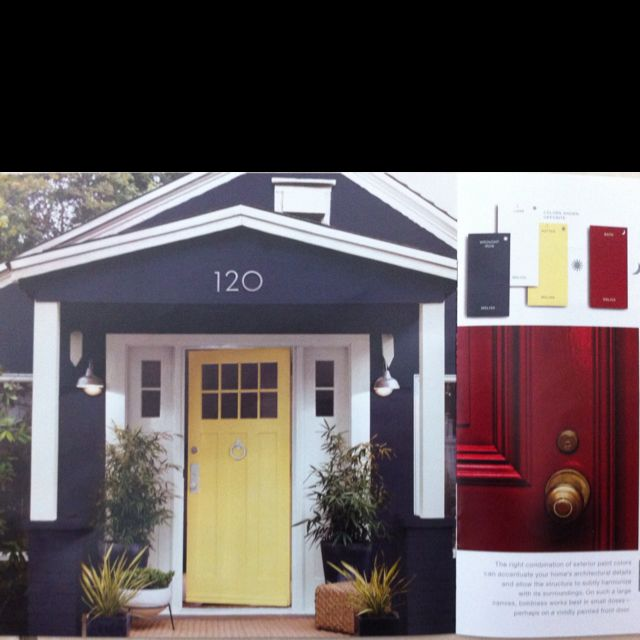 Exterior House Color With The Red Or Yellow Door Martha Colors Wrought Iron Msl168 I Think Love This