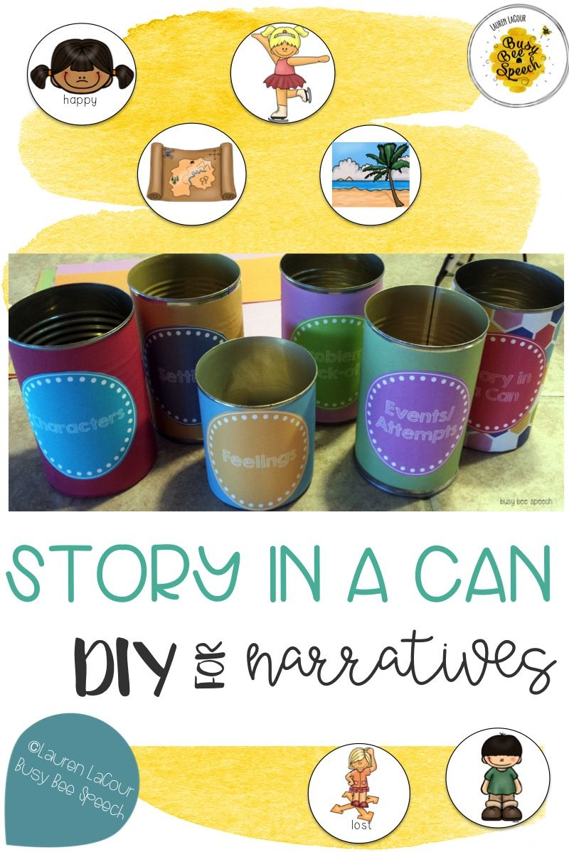 I love working on story telling with my speech-language students. It's a great way to target several aspects of language at once: story elements, vocabulary, grammar, articulation, and much more!  This DIY is perfect for speech therapy sessions and more.