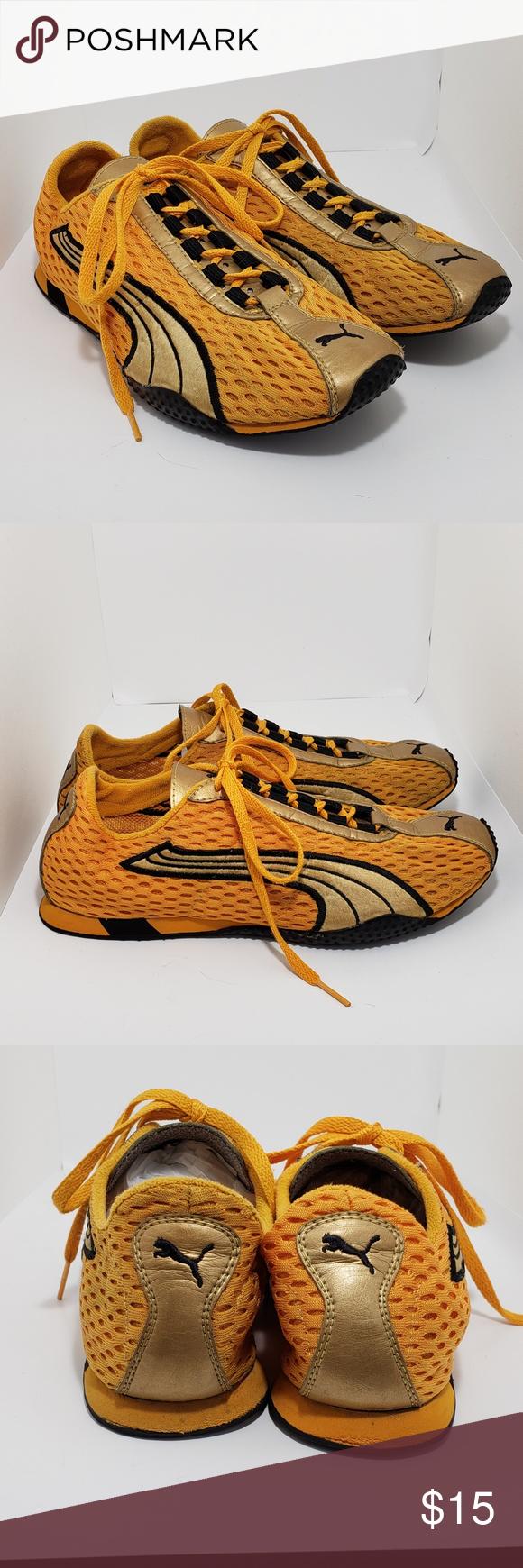 Puma trainers orange gold size 7.5 in