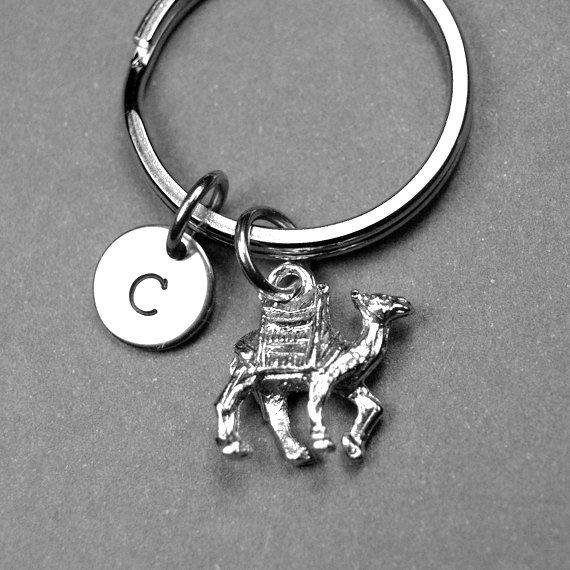 Camel Keychain animal keychain personalized by chrysdesignsjewelry