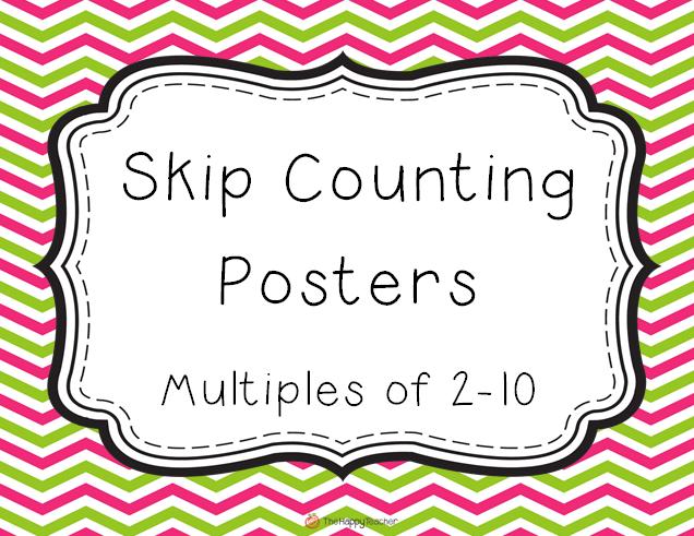 Skip Counting Posters:  TheHappyTeacher