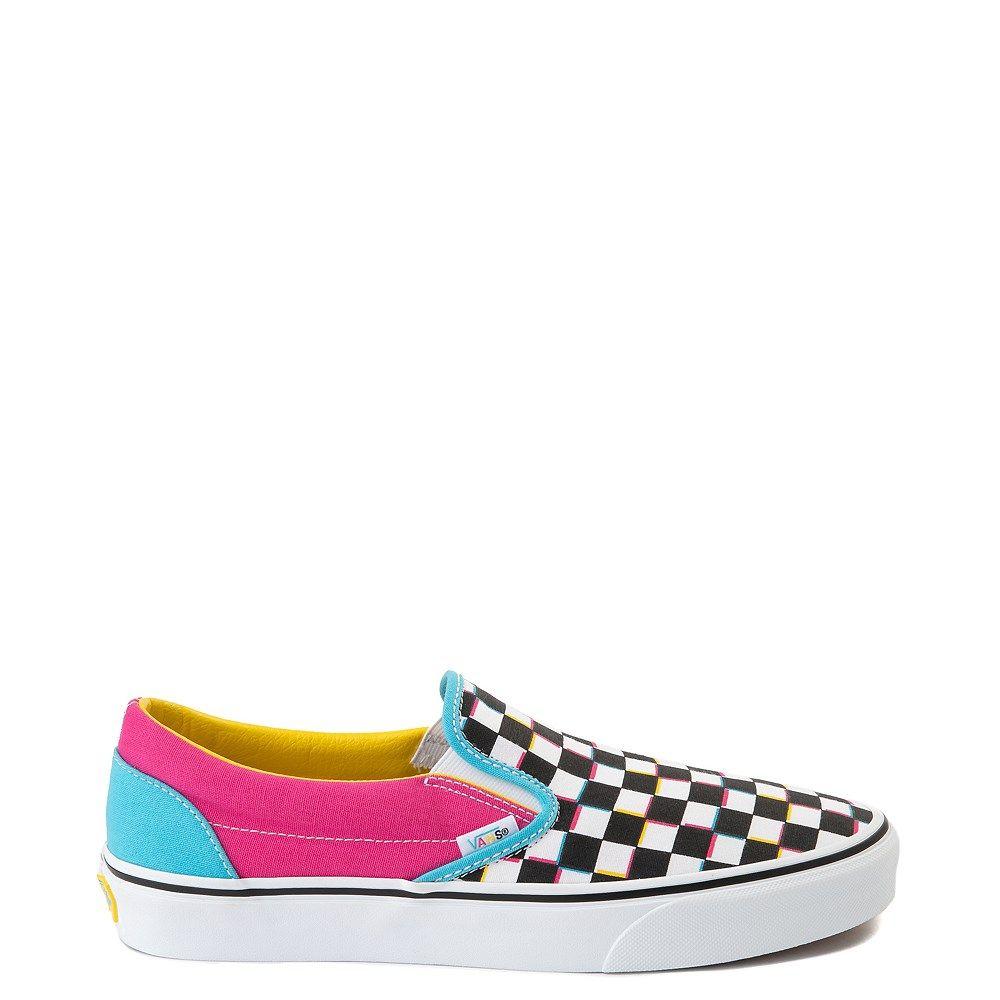 Vans Slip On Checkerboard Skate Shoe Multi In 2020 Vans Slip On Yellow Slip On Vans Skate Shoes