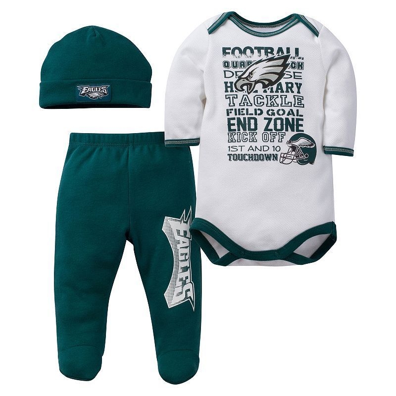 4a826bdbc Baby Philadelphia Eagles 3-Piece Bodysuit