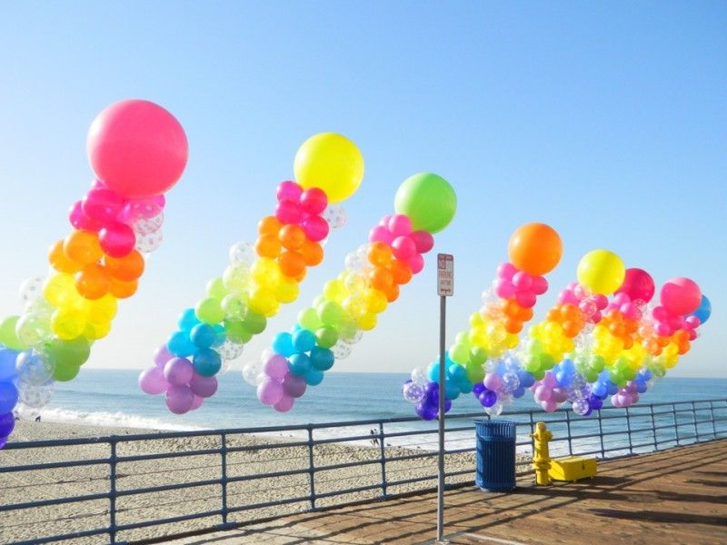outside patio balloon decoration google search ballon