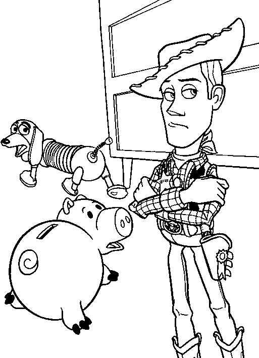 Sheriff Woody Dizziness | Toy story Coloring Pages | Pinterest