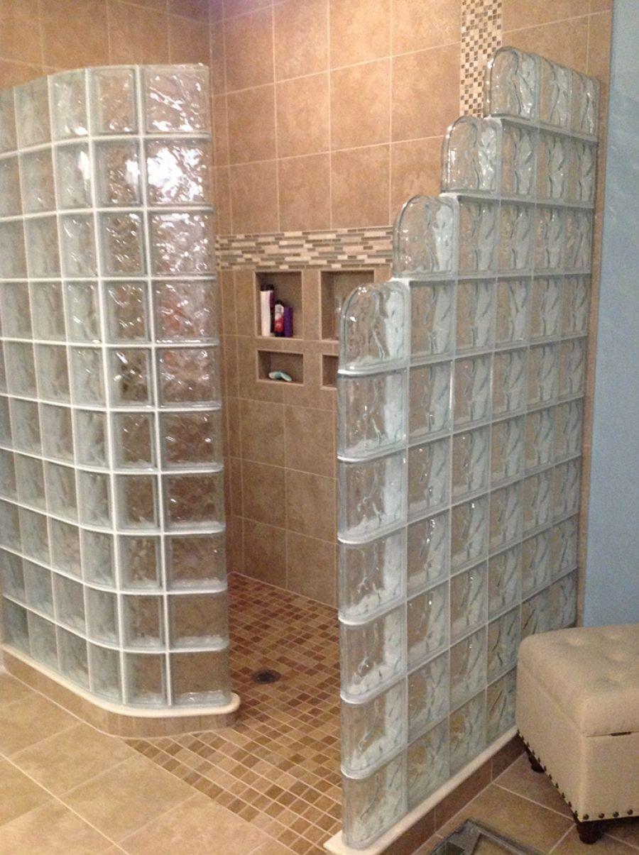 glass block shower walk in shower designs innovate building solutions shower project. Black Bedroom Furniture Sets. Home Design Ideas