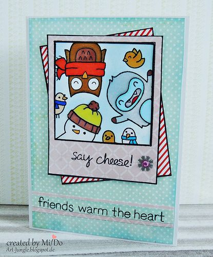 Lawn Fawn Stamps Yeti And Winter Friends Christmas Card