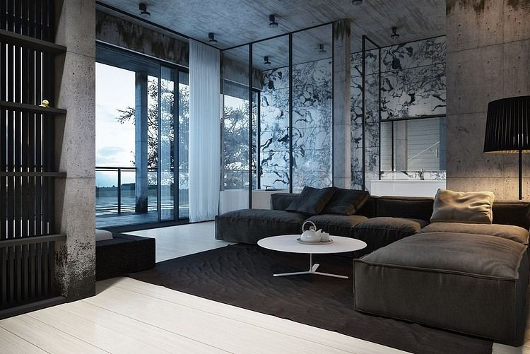 The Interior Is Decorated In Shades Of Gray Leaving All Diversity To Patterns And Textures Used Throughout