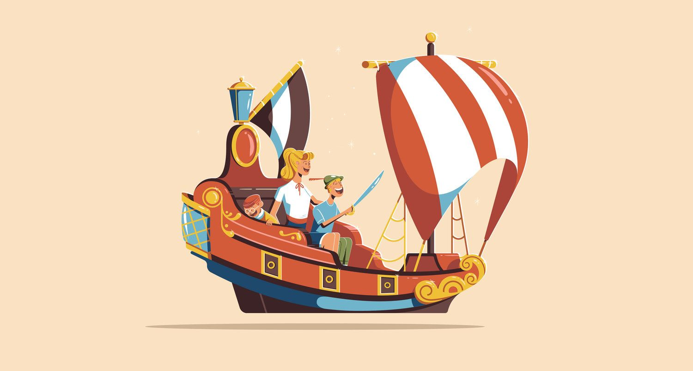 Disney rides illustration by colin hesterly disney