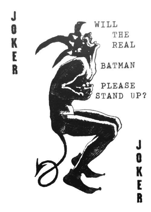 The Dark Knight Calling Card The Cinema Joker Card