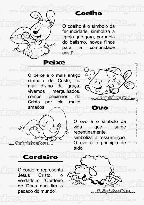 Simbolos Da Pascoa Para Colorir Projeto Pascoa Educacao Infantil