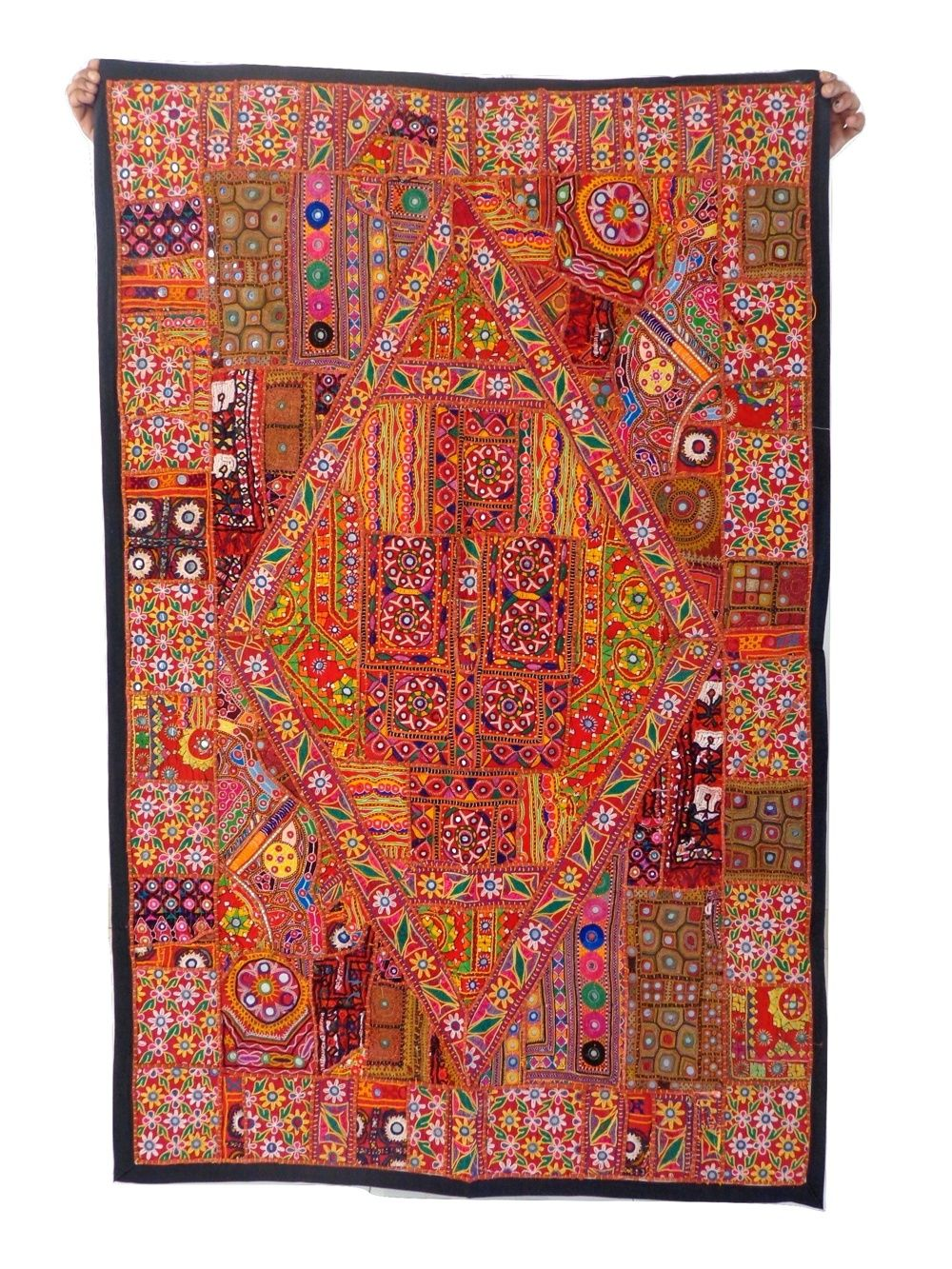 Pin On Home Decor Tapestry Wall Hanging Embroidered Beaded Patchwork