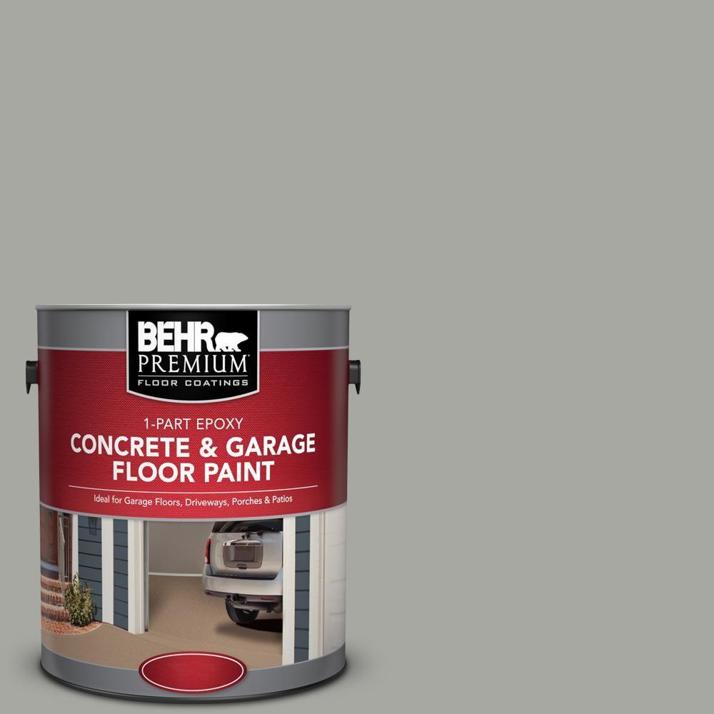 Behr Premium 1 Gal Pfc 68 Silver Gray 1 Part Epoxy Satin Interior Exterior Concrete And Garage Floor Paint 90001 Garage Floor Paint Painted Floors Exterior Paint