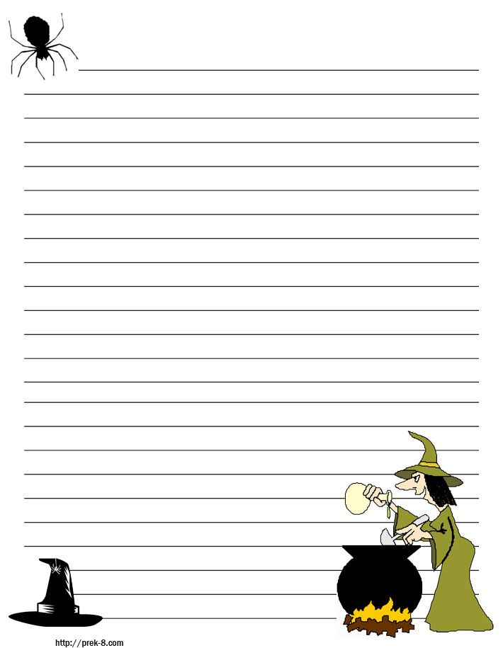 Halloween Stationary with Lines scary Halloween regular lined - lined pages for writing