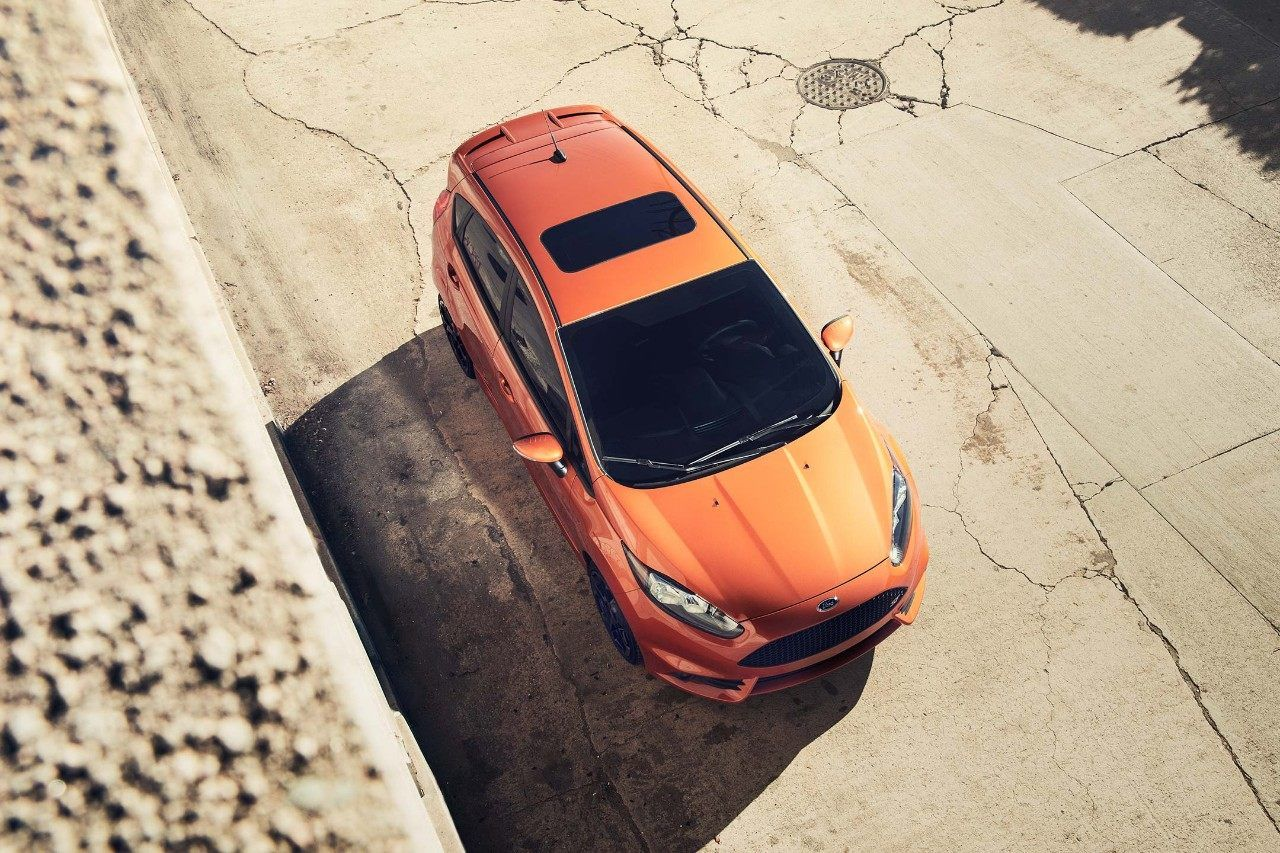 2018 Ford Fiesta St From Above In Orange Spice Metallic Tri Coat Fiesta St Ford Fiesta St Ford Fiesta