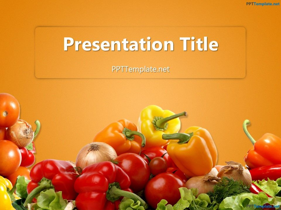 free various vegetables ppt template food ppt templates