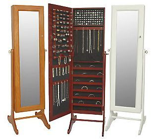 Gold Amp Silver Safekeeper Mirrored Jewelry Cabinet By Lori