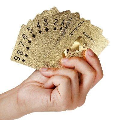 Gold Foil Color Poker Cards - Poker, Cards, Gold foil