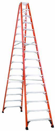 Louisville Ladder Fm1416hd Fiberglass Twin Front Ladder 16 Feet 375 Pound Duty Rating Louisville Ladder Http Www Amazon Com Ladder Fiberglass Step Ladders