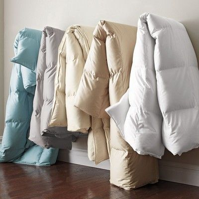 White Bay Down Comforter I like the idea of a nonwhite insert