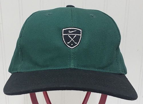 Rare-NIKE-Golf-Shield-Hat-Green-Black-Discontinued-Adjustable-Cap -Crest-Swoosh 75a269bd264