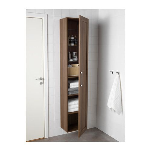 GODMORGON Hoge kast - walnootpatroon - IKEA - Badkamer | Pinterest ...
