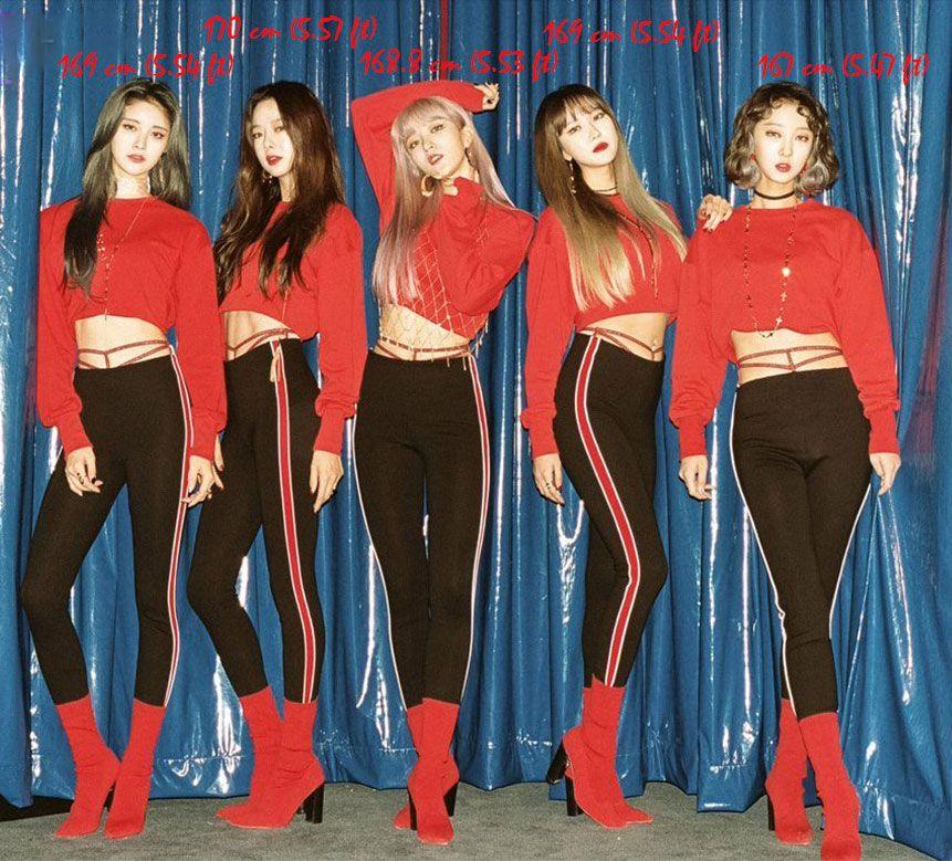 Idol Height Chart Exid Height Exid Comeback Ddd Exid 2017 Comeback Exid Kpop Kpop Girls Korean Music