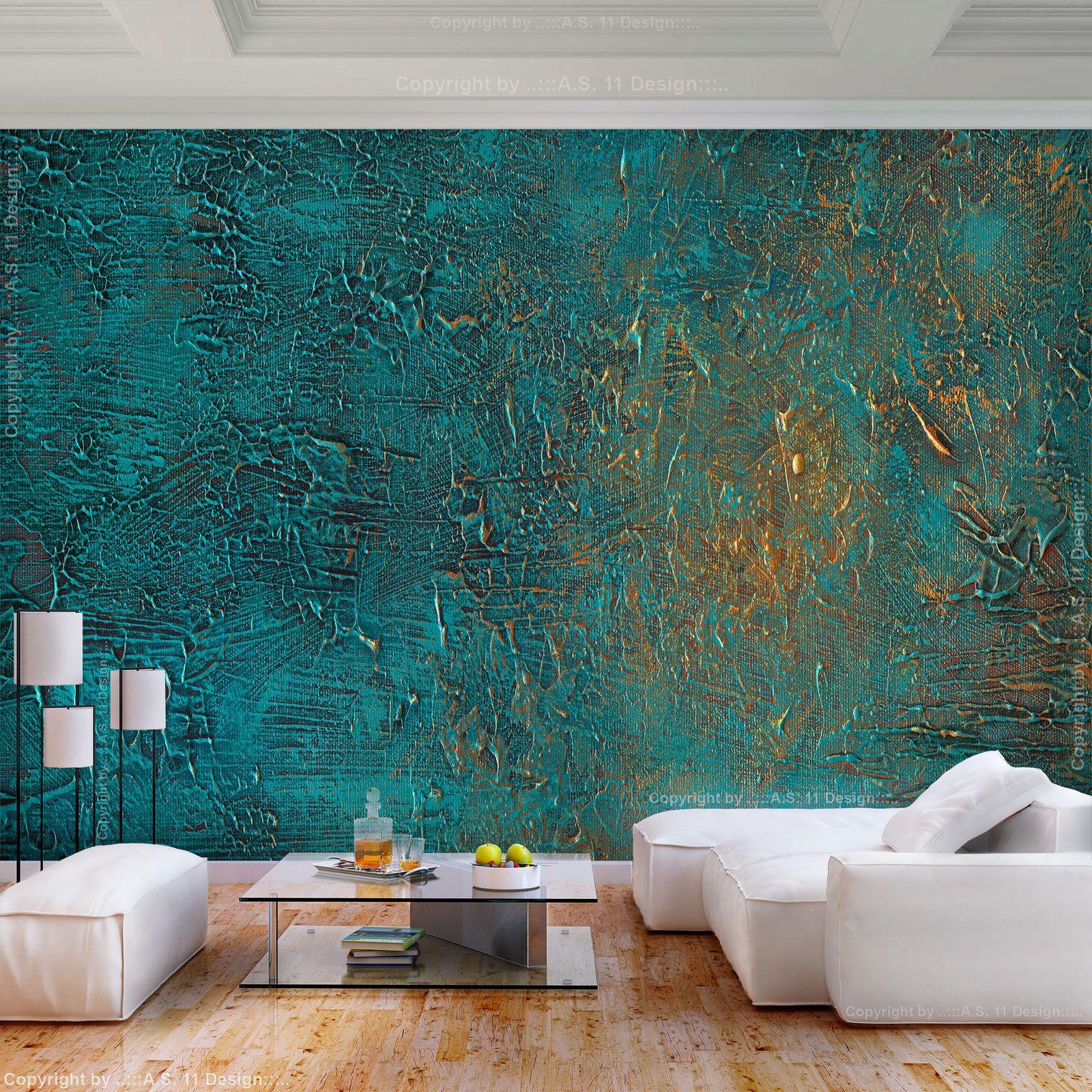 Vlies Fototapete Rost Grun Metalwand 3d Effekt Tapete Wandbilder Xxl