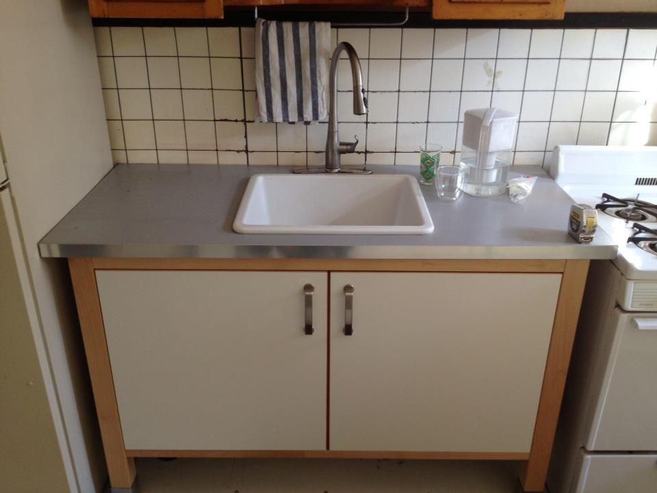 Domsjö  Varde Solution Not The Double Sink Sadly  Biscuit Enchanting Kitchen Cabinet Sink Base Design Decoration