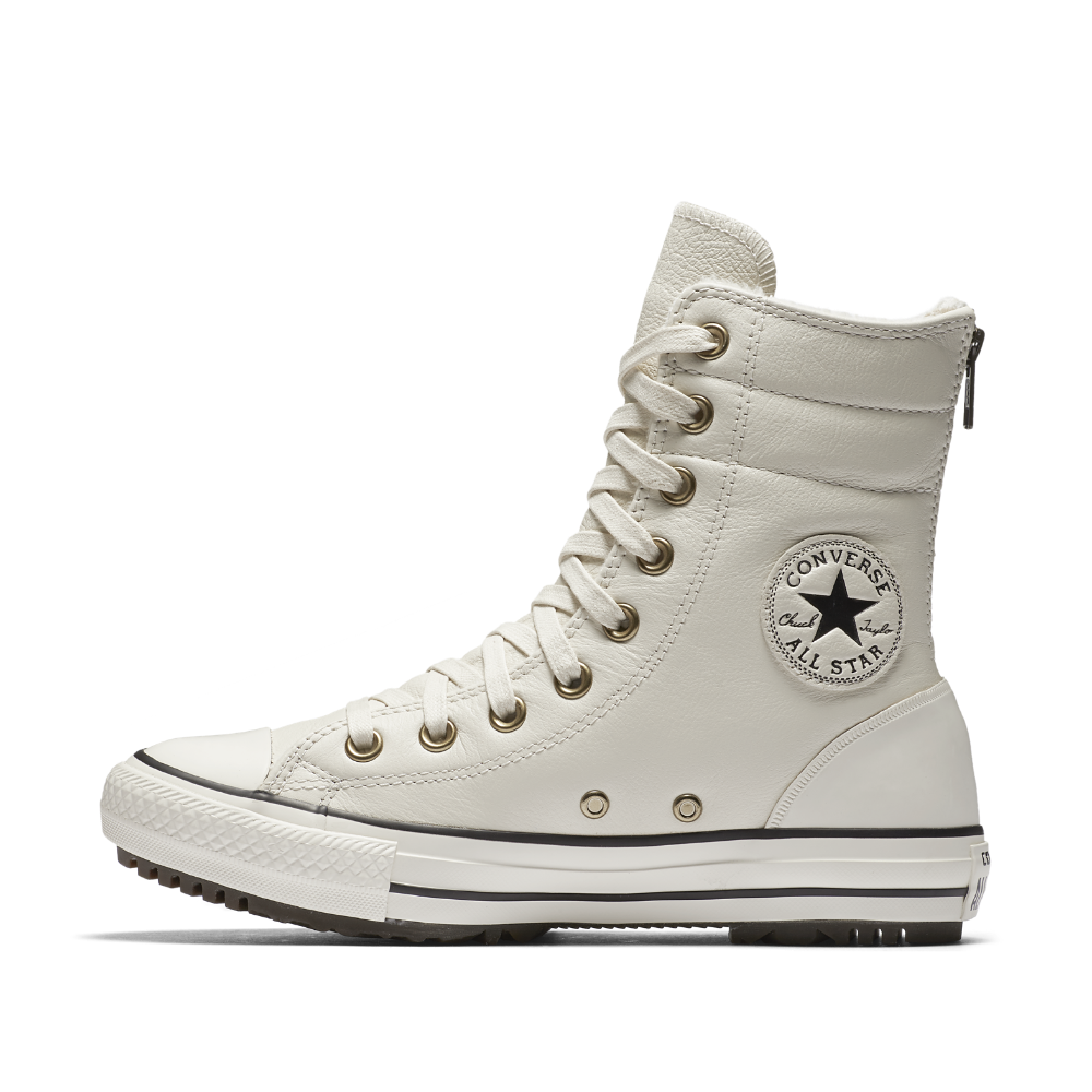755d1eae5b Converse Chuck Taylor All Star Leather and Faux Fur High Rise Women s Boot  Size