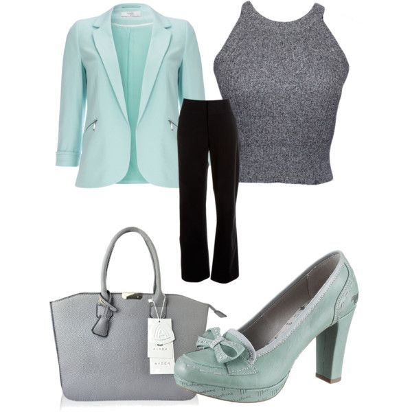 Teal and grey by kelly-desantis on Polyvore featuring polyvore, fashion, style, Wallis and Lafayette 148 New York