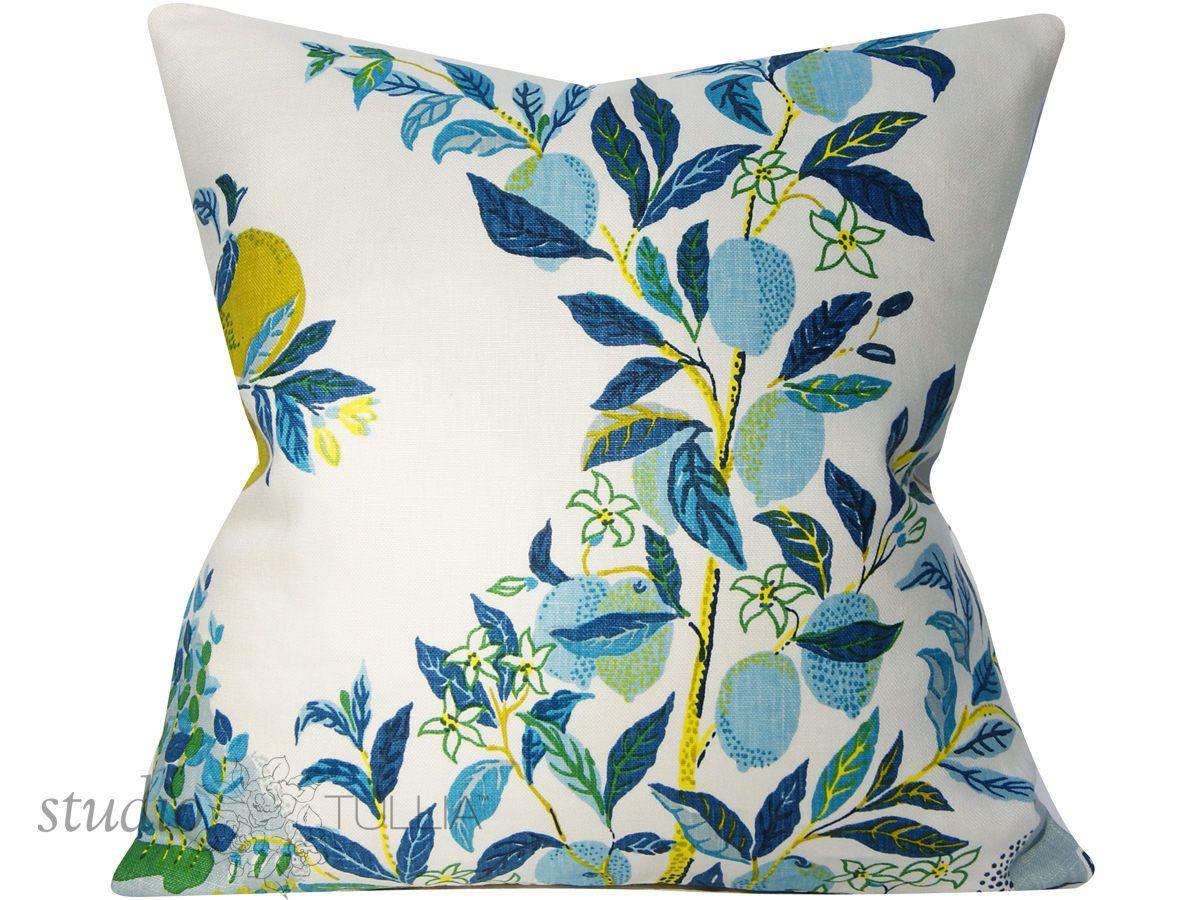 Schumacher Pillow Cover Citrus Garden