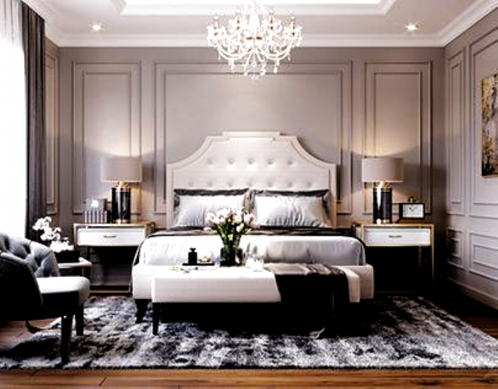 Luxury Grey Bedroom Decor Cozy Bedroom White Bed Transitional