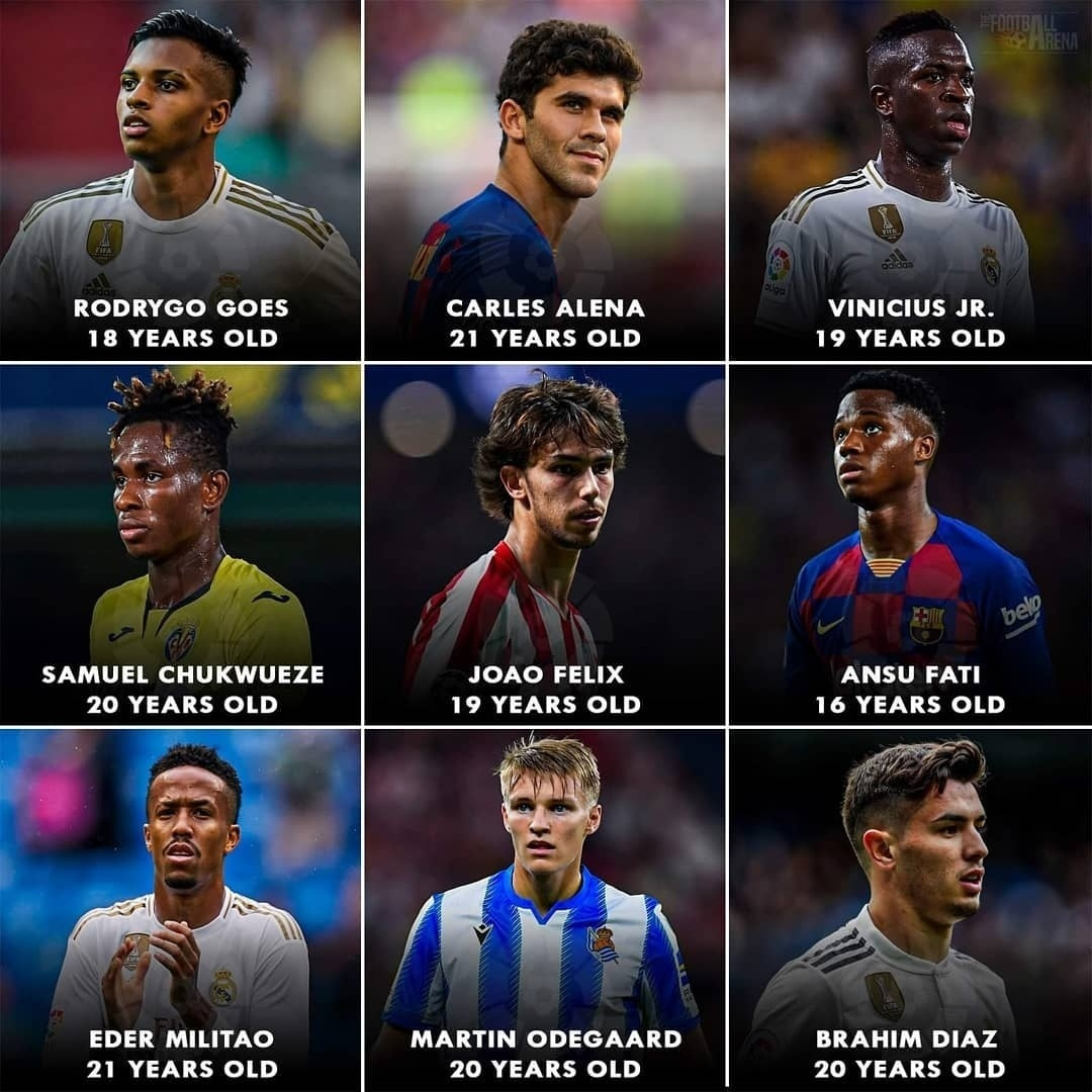 La Liga is teeming with young talents! 🇪🇸 21 years old