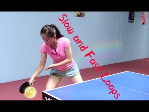 How To Play Slow Spinny And Fast Powerful Forehand Loops Youtube Table Tennis Slow Ping Pong