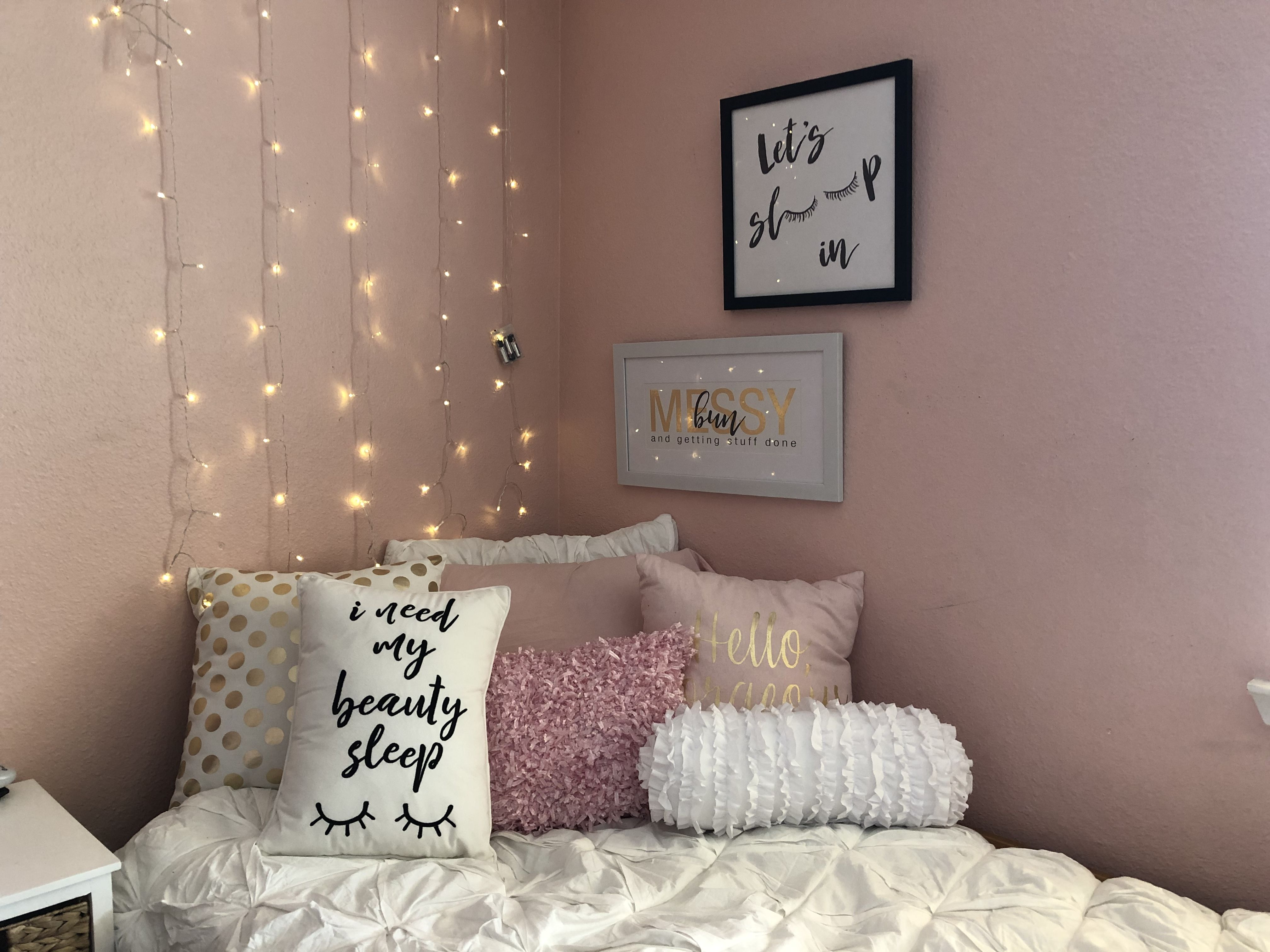 Aesthetic Pink Room Light Pink Rooms Aesthetic Rooms Pink Room