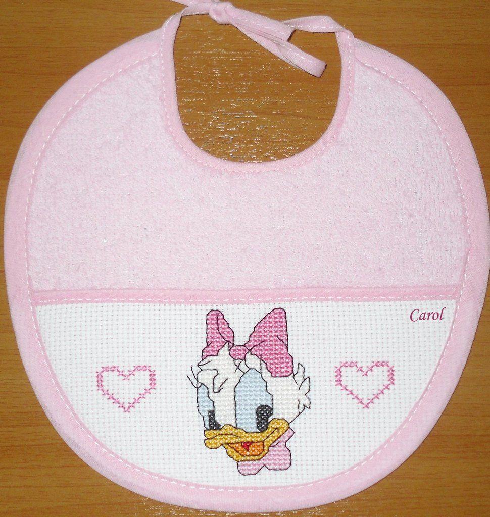Bavaglino Baby Paperina Punto Croce Cross Stitch Baby