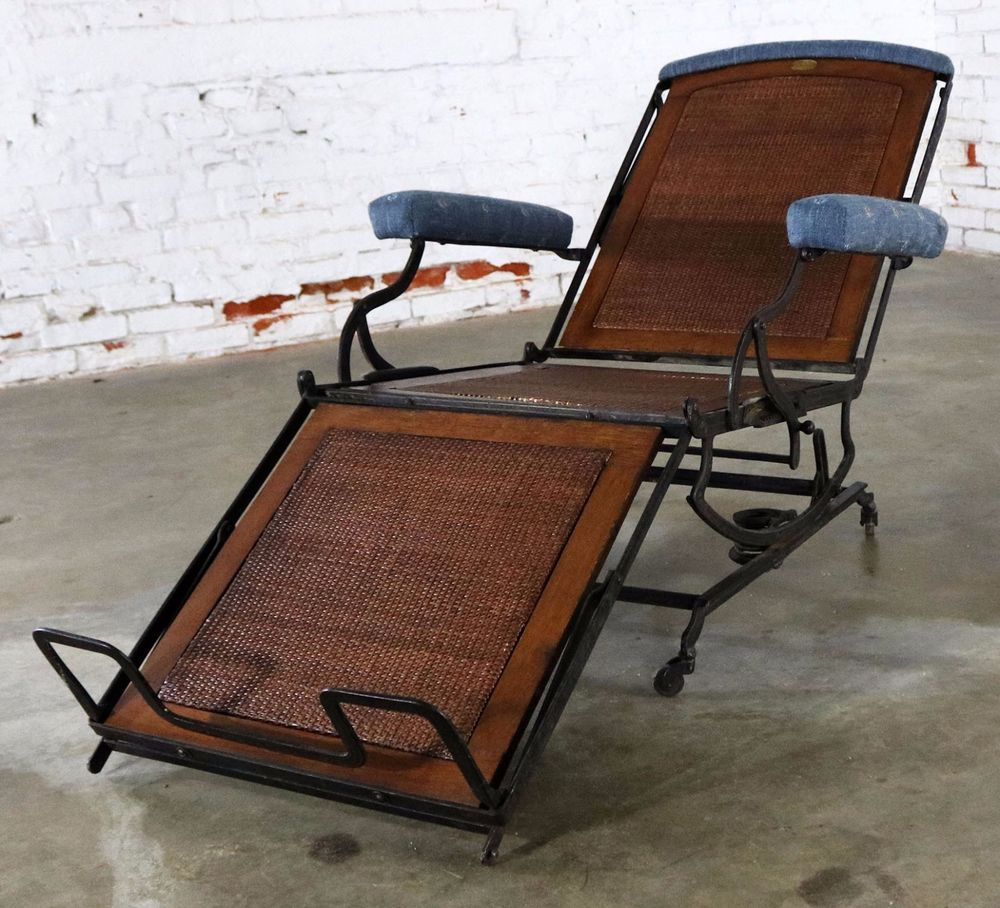 Marks Adjustable Folding Chair Company Campaign Style Invalid Deck