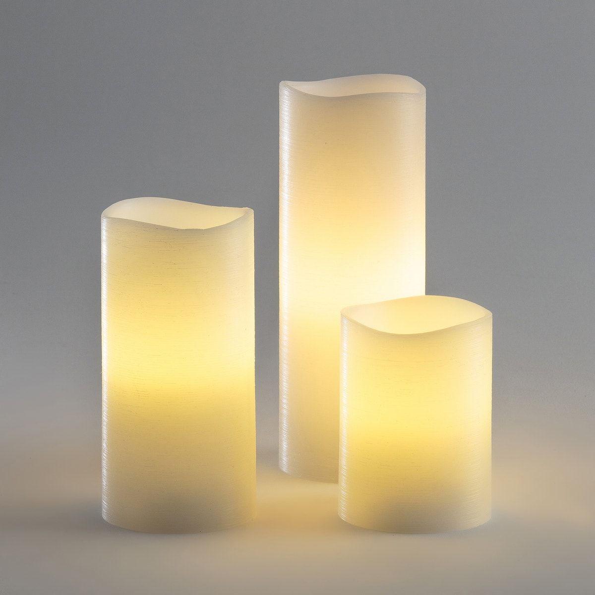 3er Set Led Kerzen Batteriebetrieben In 2020 Led Kerzen Led Kerzen