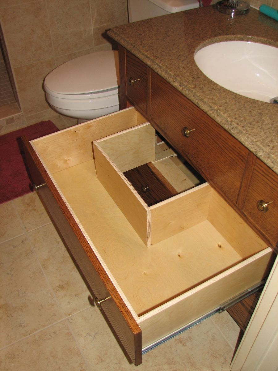So that the drawers of a dresser can still store stuff but - Small bathroom vanity with drawers ...