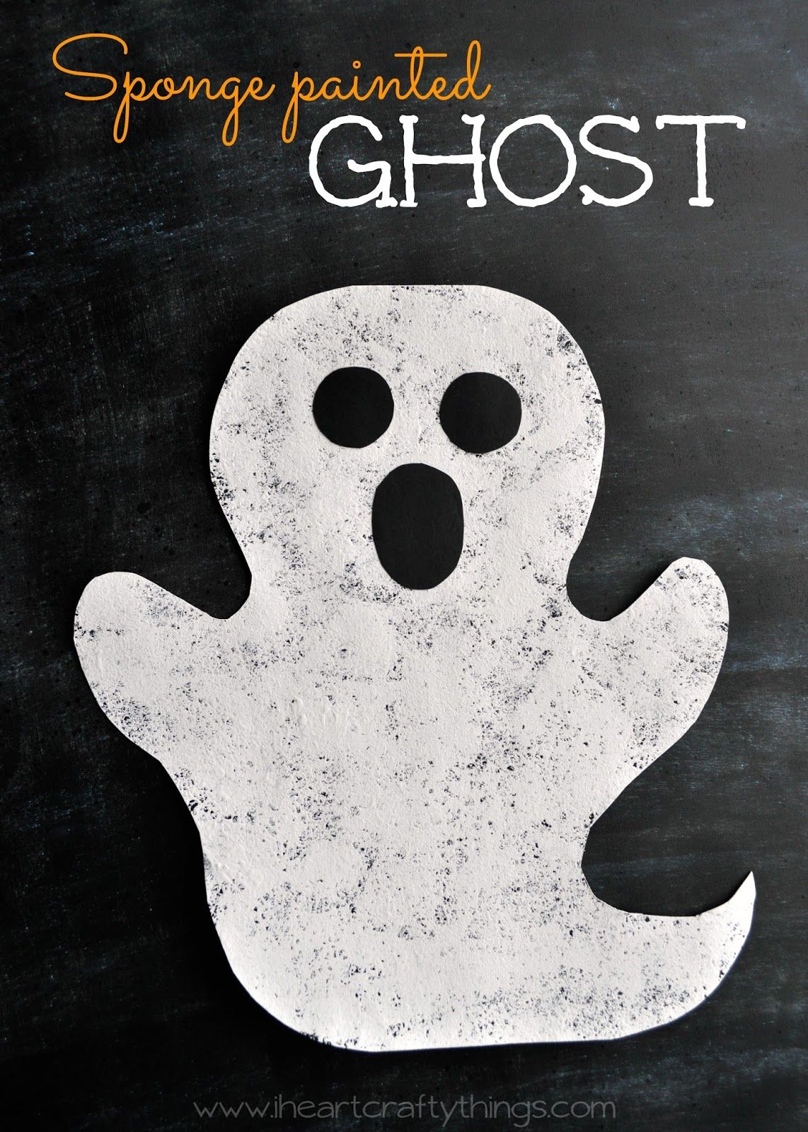 halloween arts and crafts sponge painted ghost craft crafts 4590